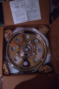 Hummer H1 polished stainless hubcaps Brand new