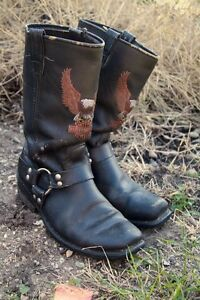 Vintage Harley Davidson Motorcycle Riding Boots