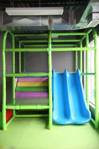 Indoor playland equipment (8.5 feet wide x 12.5 deep x 9 tall)