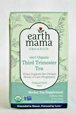 Organic Tea Herbal Mint Blend 3 Pack Sealed Brand New Earth Mama Third Trimester Ground Mint Tea