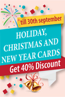 40%Discount on Holidays , Christmas & New Year Greetings