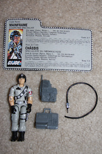 G.I.Joe - Mainframe figure [1986] (with weapons and file card)