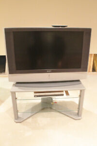 Large Sony TV and stand