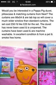 Peppa duvet & curtains from Next