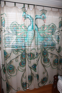 Peacock Sheer Curtains