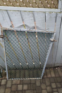 Chain Link Gate - 36(w) x 48, Galvanized, Square Tubing, Vintage