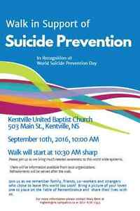 Walk for Suicide Prevention - Kentville