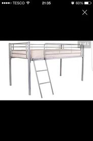 Single bed metal mid sleeper