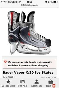 Bauer X20 youth skates 11D patins enfants BONUS