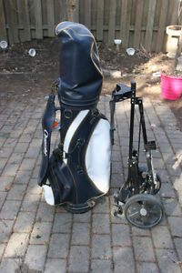Fantastic Golf Clubs with Bag and Caddy.