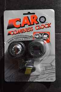 (20) Car Compass and Clock Kitchener / Waterloo Kitchener Area image 1
