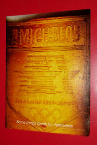 COOL 1984 MICHELOB BEER OLYMPICS RETRO AD - VINTAGE ANONCE BIERE