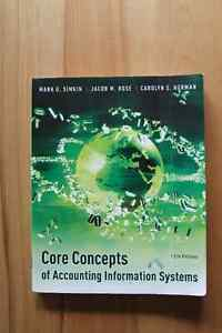 Core Concepts of Accounting Information Systems 12th Edition Kingston Kingston Area image 1
