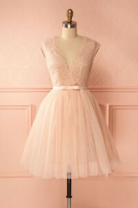 Athina Pale Pink Tulle & Lace Tea Party Dress