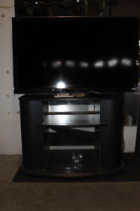 Black Swivel Entertainment stand for sale