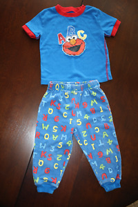 Sesame Street Elmo Cotton Pyjama Set - Short Sleeve