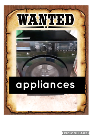 Wanted all appliances cash £££