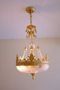 Crystal Chandelier with beautiful gold finish