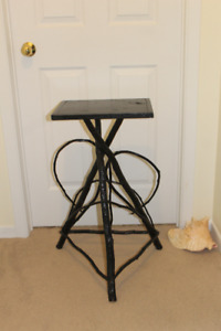 Antique Bent Wood Table or Plant Stand