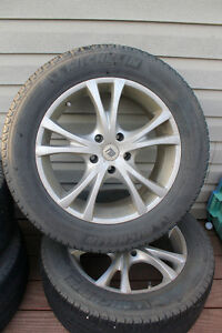 """4 FRD 18"""" rims with tires and sensors"""