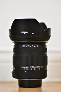 Sigma 17-50mm F2.8  lens for Nikon mint condition