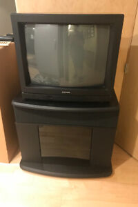 TV stand and Tube TV