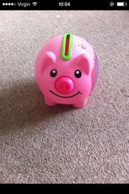 Piggy coin counter