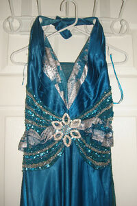 Long Dress Blue & Silver