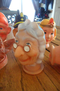 Vintage puppet heads
