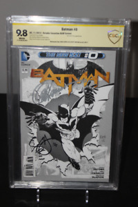 Batman #0 Sketch Variant New 52 CBCS 9.8 x2 SIGNATURES!
