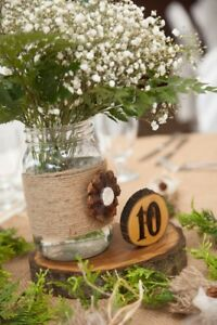 Wedding Decorations - Wood Theme (centerpieces, signs, etc.)