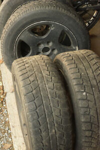 """VW Audi 5x112 Alloy Wheels 16"""" with Winter Tires 205 55 R16"""