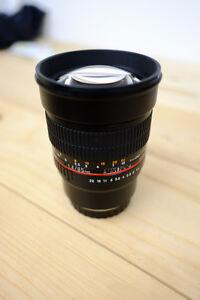 Objectif Rokinon 85mm f/1.4