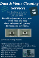 Duct & Vents Cleaning In Just $99