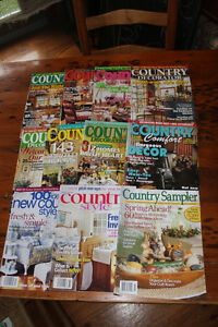 Box Lot of Country Decorating Magazines
