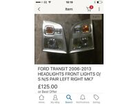 Ford transit mrk7 head lights