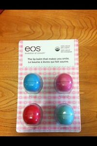 eos lip balm – 4 pack – NEW, unopened package