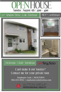 OPEN HOUSE- 327 Arklow Drive, Cole Harbour