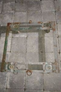 Dolly - Steel Welded Angle Iron Open Dolly, 4 Wheels, 2000 lbs