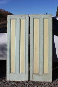 Old Pair of Beautiful 2 Panel Wooden Doors