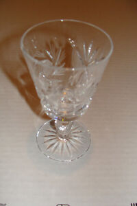 Pinwheel Crystal Wine Glasses