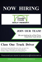 Part Time Class One Driver