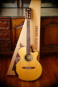 IBANEZ AEG10NE acoustic electric nylon w. M-Audio Mobile Pre