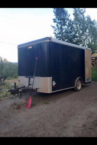 6 by 6 by 12 covered cargo trailer