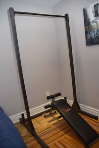 Cap Barbell Power Rack Exercise Stand + Fat Gripz + Sunny Health