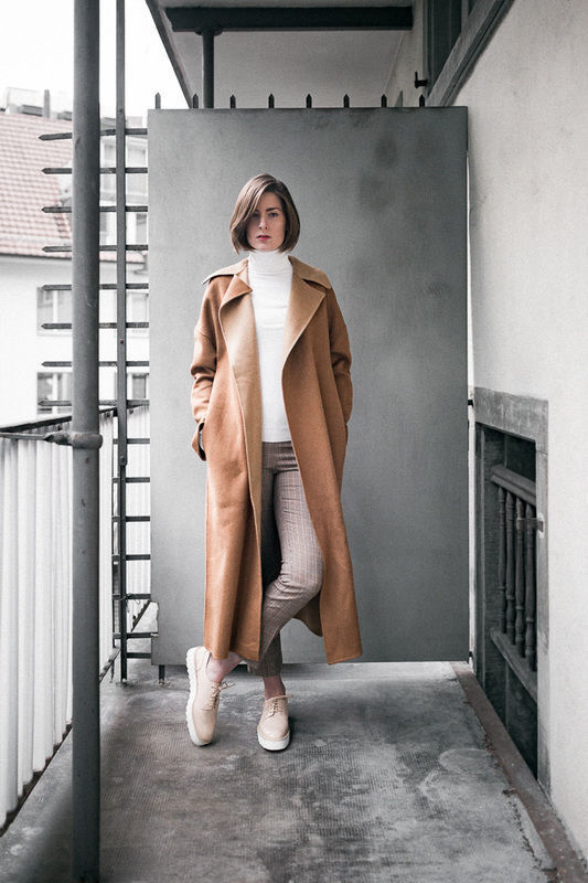 Camel Nude Trenchcoat
