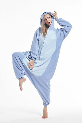 Women Men Unisex Adult Onesie0 Animal Stitch Kigurumi Pajamas Cosplay Costume - Stitch Adult Costume