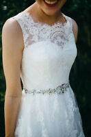 Size 2 Lace Wedding Gown