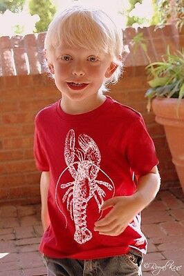 Child White Lobster Red Nautical kid child toddler boy girl t shirt tee shirt