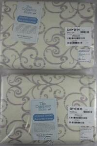 The Company Store FULL 6.0z Sateen Flannel Fitted&Flat Sheet Lavender SET
